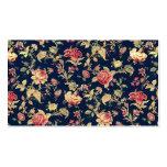 Plantilla color de rosa floral del modelo del vint tarjetas de visita