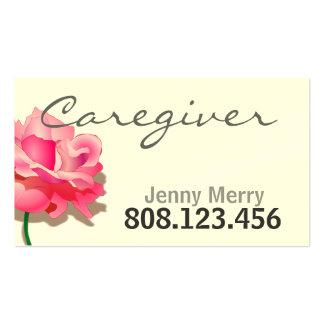 Plantilla color de rosa simple de la tarjeta de tarjetas de visita