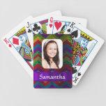 Plantilla colorida de la foto del galón barajas de cartas
