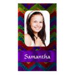 Plantilla colorida de la foto del galón tarjetas personales