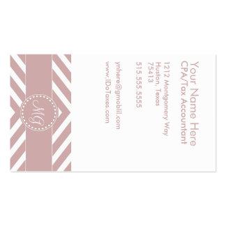 Plantilla con monograma de color de malva de la tarjetas de visita