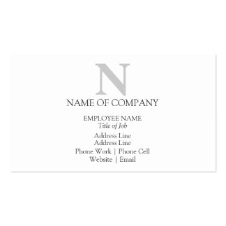 Plantilla con monograma elegante tarjetas de visita