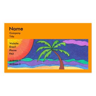 Plantilla con playas de la tarjeta de visita