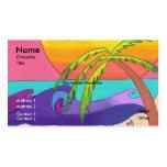 Plantilla con playas ida de la tarjeta de visita