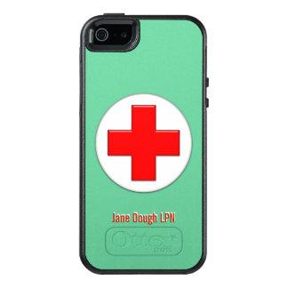 Plantilla conocida cruzada de la enfermera funda otterbox para iPhone 5/5s/SE