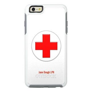 Plantilla conocida cruzada de la enfermera funda otterbox para iPhone 6/6s plus