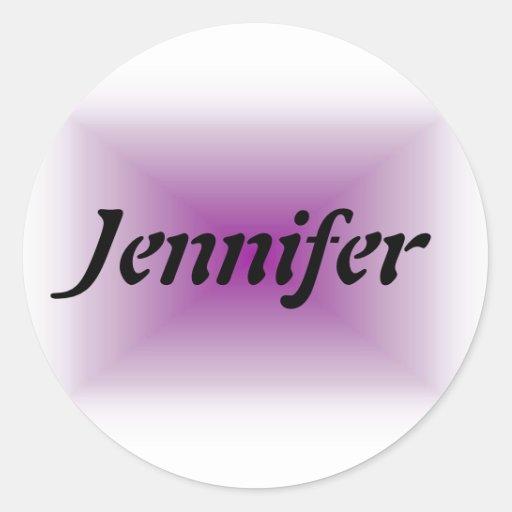 Plantilla conocida de Jennifer Pegatina Redonda