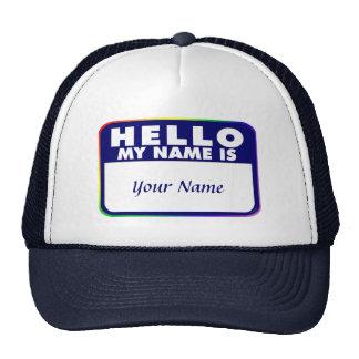 Plantilla conocida de la etiqueta gorra