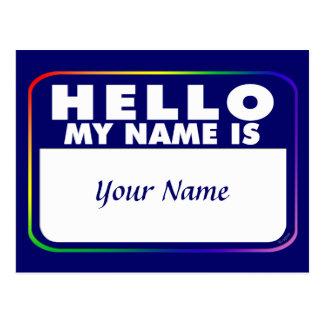 Plantilla conocida de la etiqueta tarjeta postal