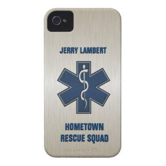Plantilla conocida de lujo del paramédico Case-Mate iPhone 4 fundas
