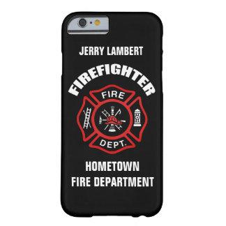 Plantilla conocida del bombero funda para iPhone 6 barely there