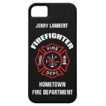 Plantilla conocida del bombero iPhone 5 Case-Mate fundas