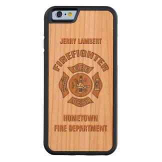 Plantilla conocida del bombero funda de iPhone 6 bumper cerezo