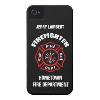 Plantilla conocida del bombero funda para iPhone 4
