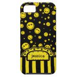 Plantilla conocida sonriente de PolkaDot iPhone 5 Funda