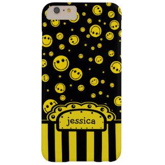 Plantilla conocida sonriente de PolkaDot Funda Barely There iPhone 6 Plus
