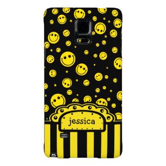 Plantilla conocida sonriente de PolkaDot Funda Galaxy Note 4