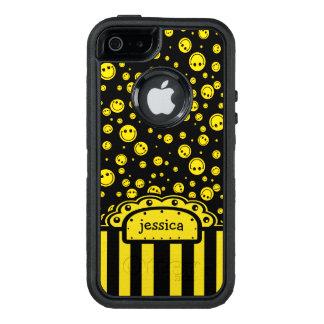 Plantilla conocida sonriente de PolkaDot Funda OtterBox Defender Para iPhone 5