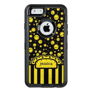Plantilla conocida sonriente de PolkaDot Funda OtterBox Defender Para iPhone 6
