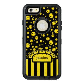 Plantilla conocida sonriente de PolkaDot Funda OtterBox Defender Para iPhone 6 Plus