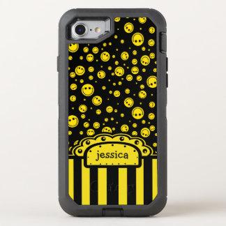Plantilla conocida sonriente de PolkaDot Funda OtterBox Defender Para iPhone 7