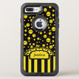 Plantilla conocida sonriente de PolkaDot Funda OtterBox Defender Para iPhone 7 Plus