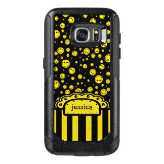 Plantilla conocida sonriente de PolkaDot Funda Otterbox Para Samsung Galaxy S7