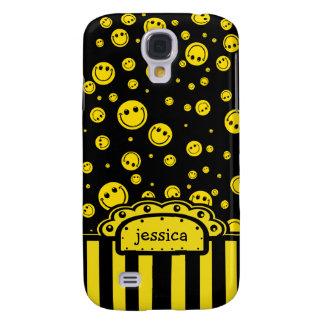 Plantilla conocida sonriente de PolkaDot Funda Para Galaxy S4