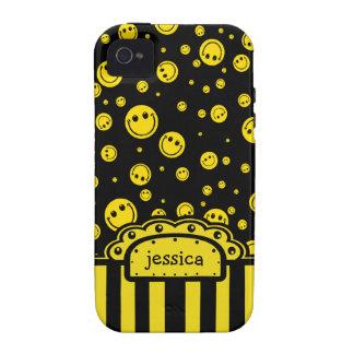 Plantilla conocida sonriente de PolkaDot Funda Para iPhone 4
