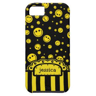 Plantilla conocida sonriente de PolkaDot Funda Para iPhone 5 Tough