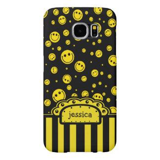 Plantilla conocida sonriente de PolkaDot Funda Samsung Galaxy S6