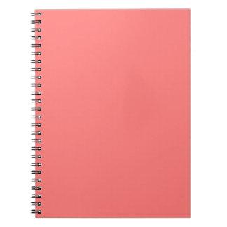 Plantilla coralina del espacio en blanco de la ten spiral notebooks