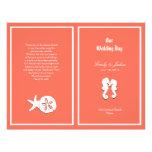Plantilla coralina del programa del boda de playa folleto 21,6 x 28 cm