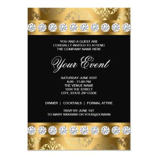 Plantilla corporativa negra del fiesta del lazo invitación 11,4 x 15,8 cm