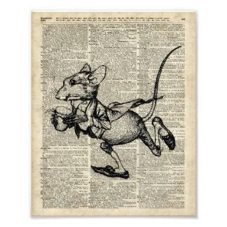 Plantilla corriente del ratón en la página vieja fotografía