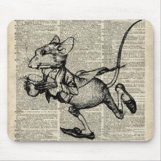 Plantilla corriente del ratón en la página vieja mousepads
