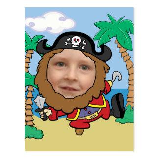 Plantilla cortada pirata divertido de la cara tarjeta postal