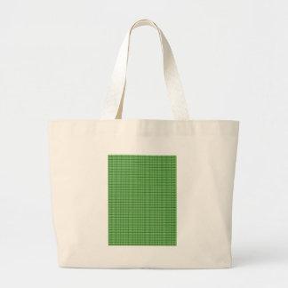 plantilla cristalina en blanco verde bolsa tela grande
