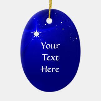 Plantilla cristiana del ornamento del navidad de adorno navideño ovalado de cerámica