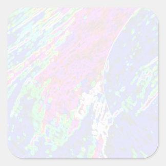 Plantilla cuadrada del pegatina de NOVINO - ondas