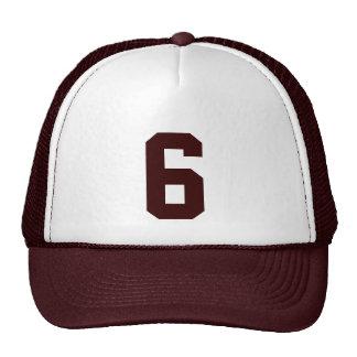 Plantilla custom el número seis 6 color marrón gorras