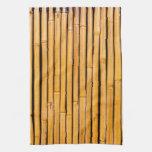 Plantilla de bambú hawaiana tropical del fondo toallas de cocina