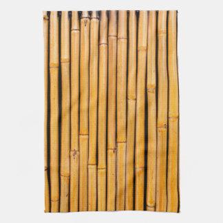 Plantilla de bambú hawaiana tropical del fondo toallas de mano
