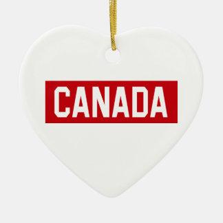 Plantilla de Canadá Adorno De Cerámica En Forma De Corazón
