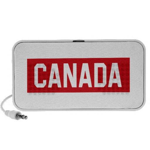 Plantilla de Canadá Notebook Altavoces