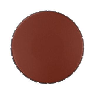 Plantilla de cobre del espacio en blanco de la ten latas de caramelos