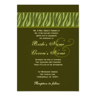 """Plantilla de color caqui y verde oliva del boda de invitación 5"""" x 7"""""""