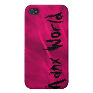 "Plantilla ""de color rosa oscuro"" del mundo de la I iPhone 4 Funda"