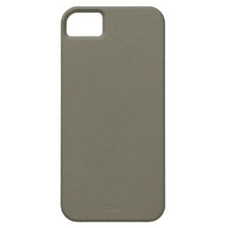 Plantilla de color topo del espacio en blanco de l iPhone 5 Case-Mate funda