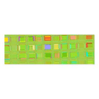 Plantilla de cristal de la teja de mosaico tarjeta de visita